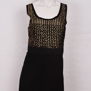 DKNY Black and Gold Party Cocktail Dress (14)